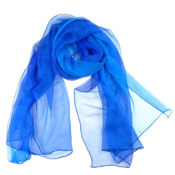 Senas Seidenschal Etude II  Blautöne