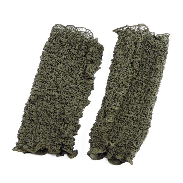 Seidenstulpen gecrasht taupe von Rother Textildesign