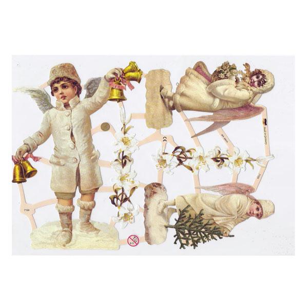 Engel im Schnee - Papierbogen von Ernst Freihoff