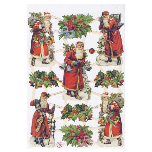 Weihnachtsmann- Papierbogen von Ernst Freihoff