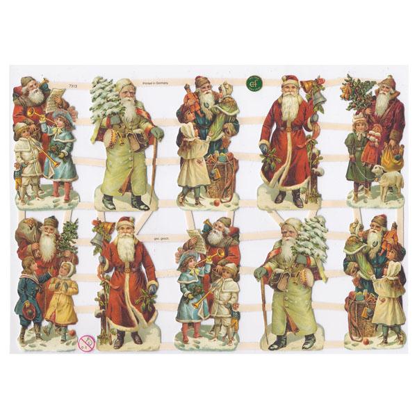Weihnachtsmänner-Papierbogen von Ernst Freihoff