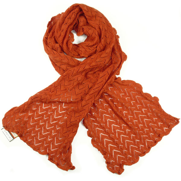 Invero Lilly Merino-Schal orange