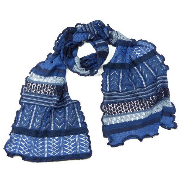Invero Merino-Wollschal Manu blau