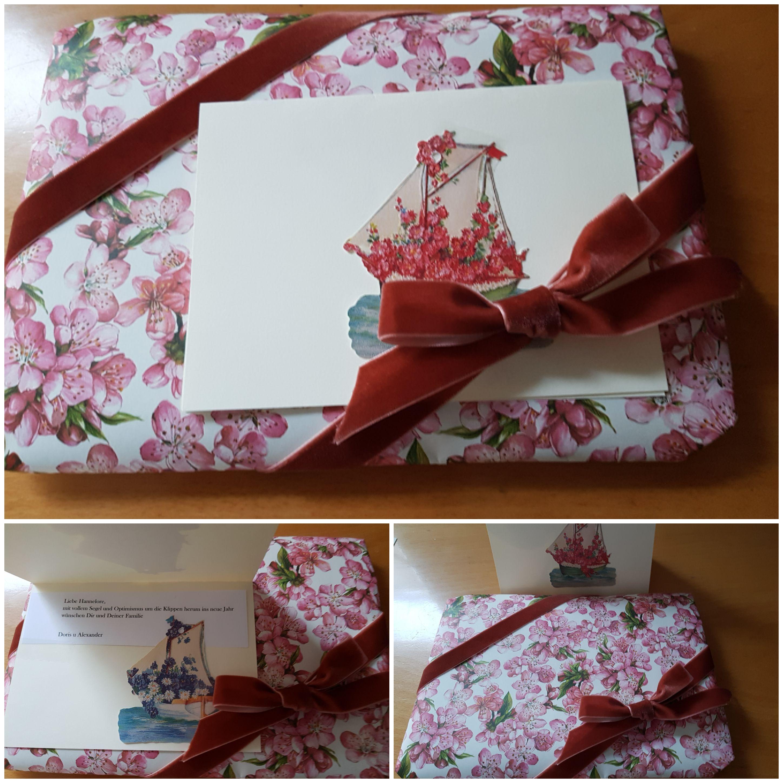 Verpackung mit feinem Geschenkpapier kostenlos