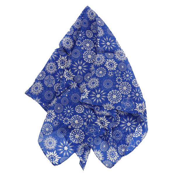 Djian Seidentuch blauweiß mit Muster