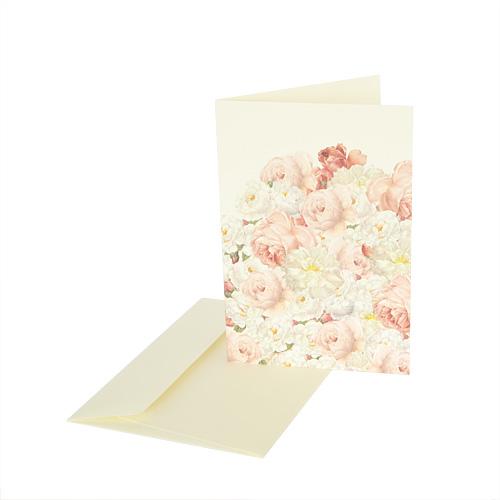 Grafiche Tassotti Karte weiße Rosen