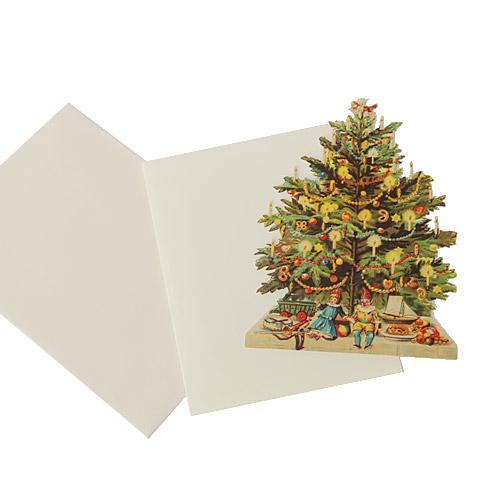 Nostalgie Karte Weihnachtsbaum