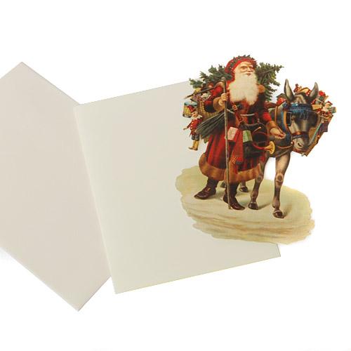 Nostalgie Karte Weihnachtsmann