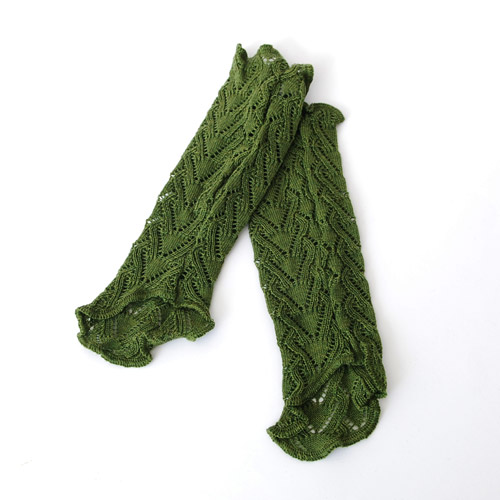 Invero Strick-Stulpen Missy schilfgrün