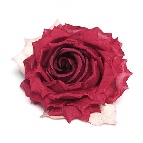 gefüllte Ansteck-Rose weinrot von Heinz Müller