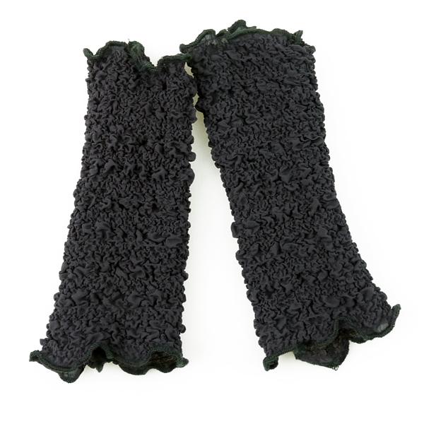 Seidenstulpen gecrasht schwarz von Rother Textildesign