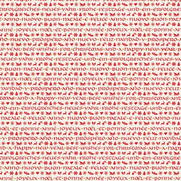 Weihnachtspapier Grafiche Tassotti  Unzial-Schrift