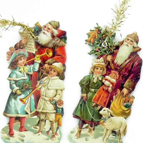 Nostalgischer Papierschmuck für Weihnachtsbaum und Deko