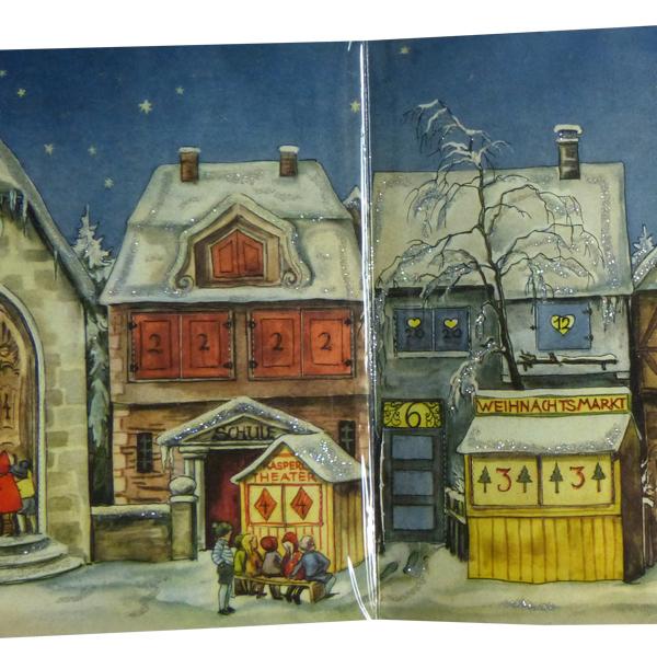 Adventskalender - Dorf mit Weihnachtsmarkt