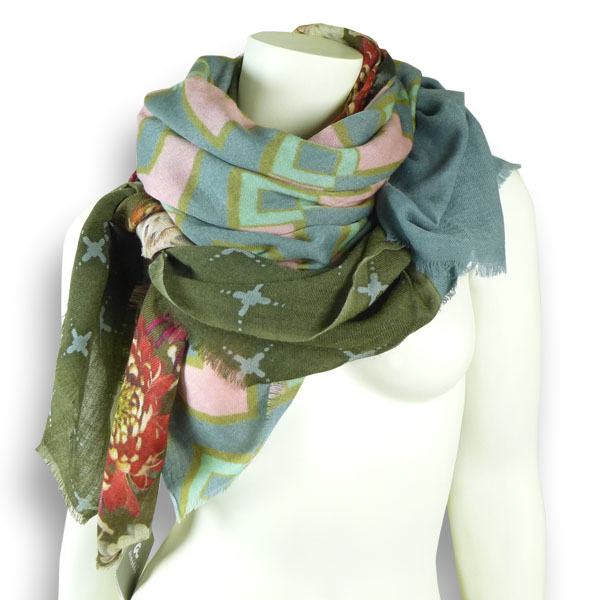 Ahmaddy Woll-Schal Patchwork pastell MH-86