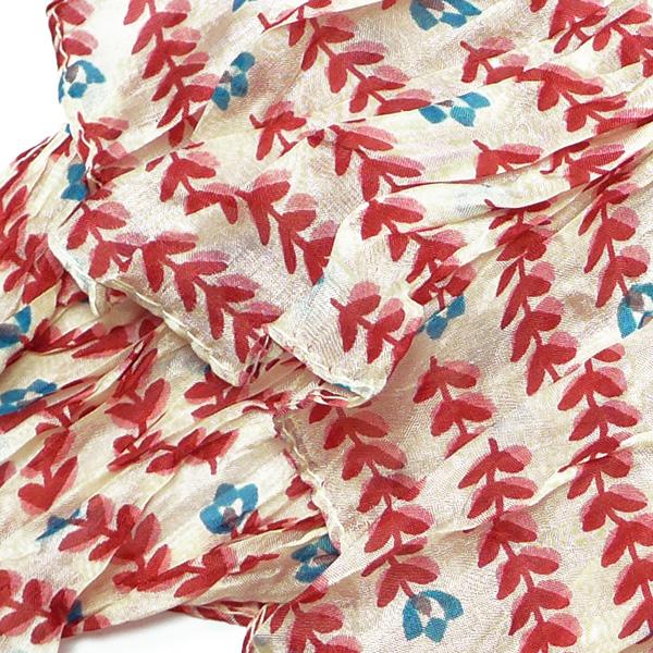Djian kleines Seidentuch Streublumen rot-blau