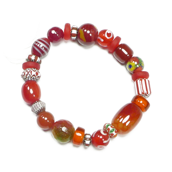 Perlenarmband rot von Djian
