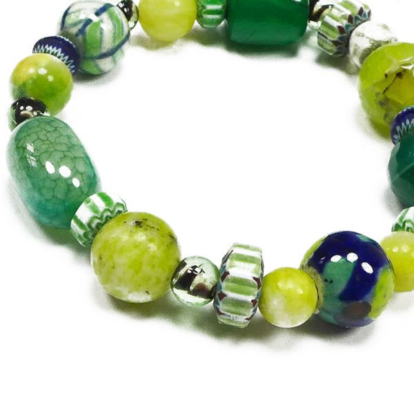 Perlenarmband grün von Djian