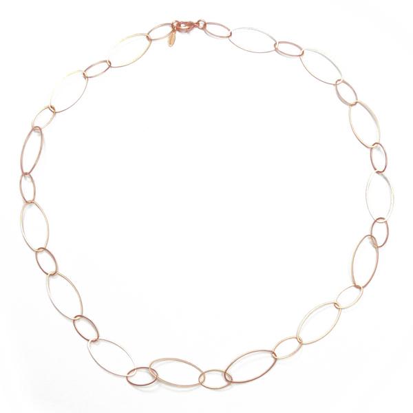Halskette rosevergoldet STCH 14r kurz