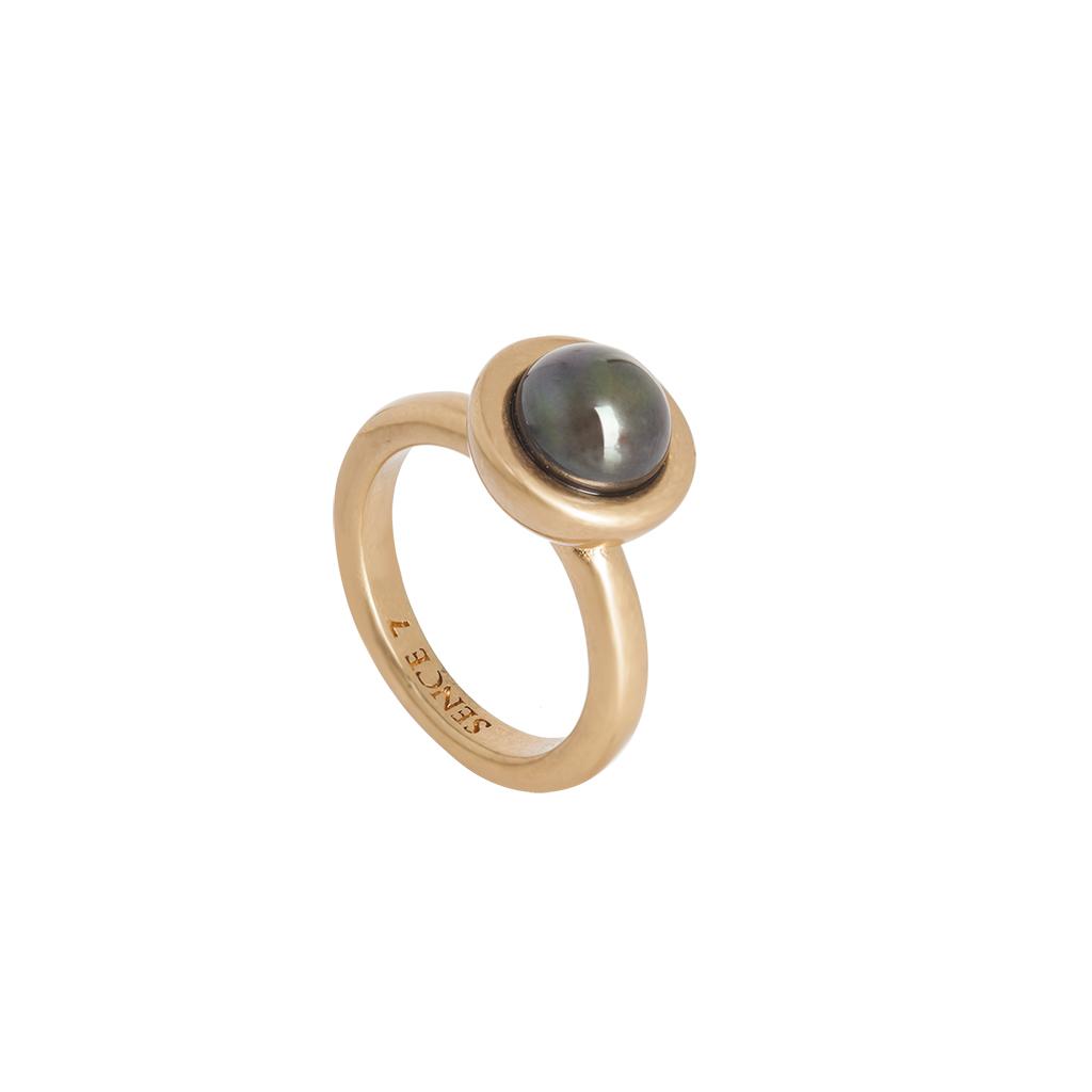 Sence Copenhagen Ring vergoldet mit Copper-Perle