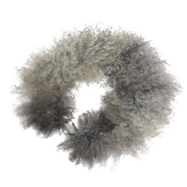 Gotlandschaf- Kragen grau Unikat