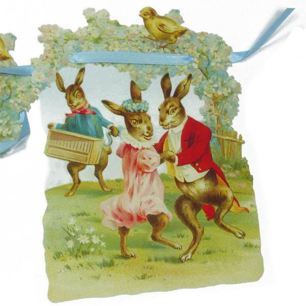Girlande Osterhasen-Tänzchen