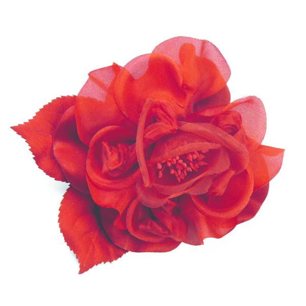Ansteck-Rose rot von Heinz Müller
