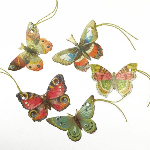Anhänger Schmetterlinge für Geschenke und Deko