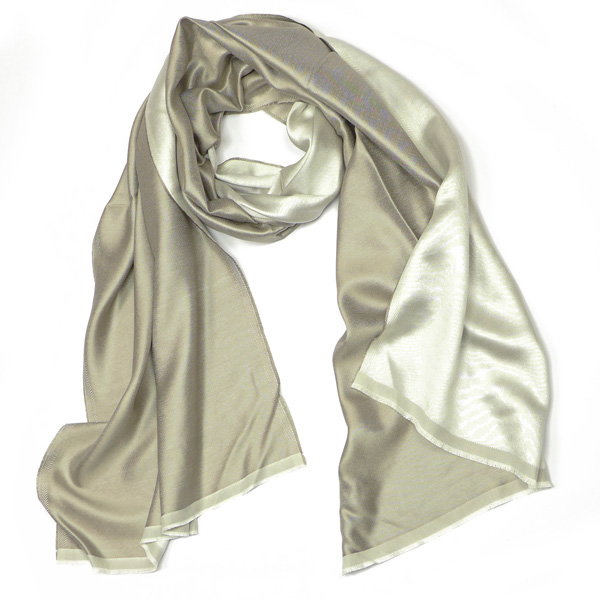 Feiner Seidenschal Parati silk light/grey