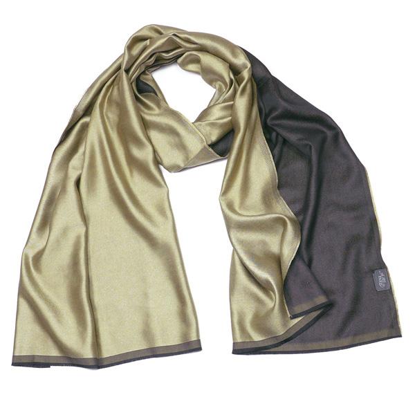 Feiner Seidenschal Parati silk beige-black