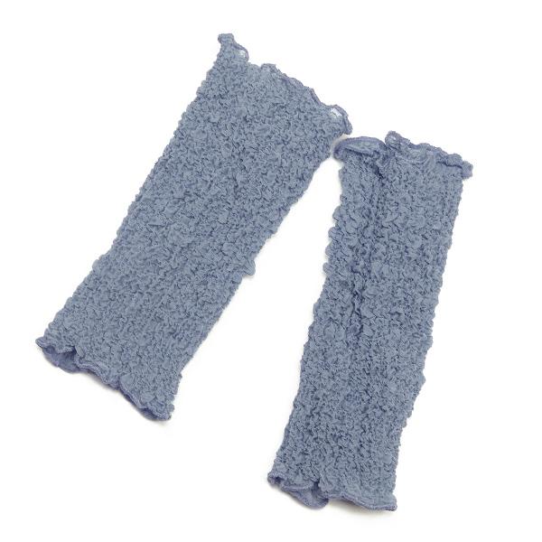 Seidenstulpen gecrasht grau von Rother Textildesign