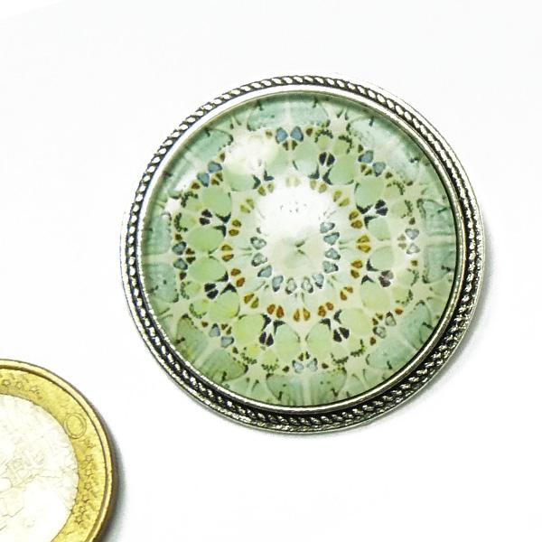 Stephisimo Brosche Mandala Motiv Jugendstil
