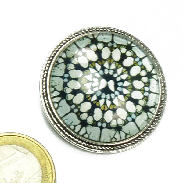 Stephisimo Brosche Mandala Motiv Art Déco