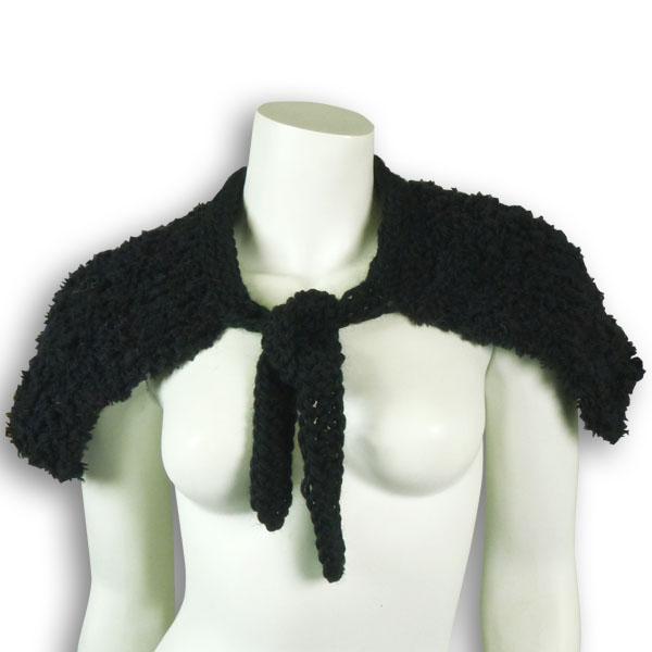 Wollkragen schwarz von rotlilie