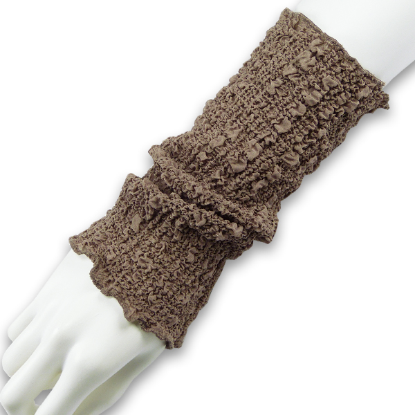 Seidenstulpen gecrasht dunkles taupe von Rother Textildesign
