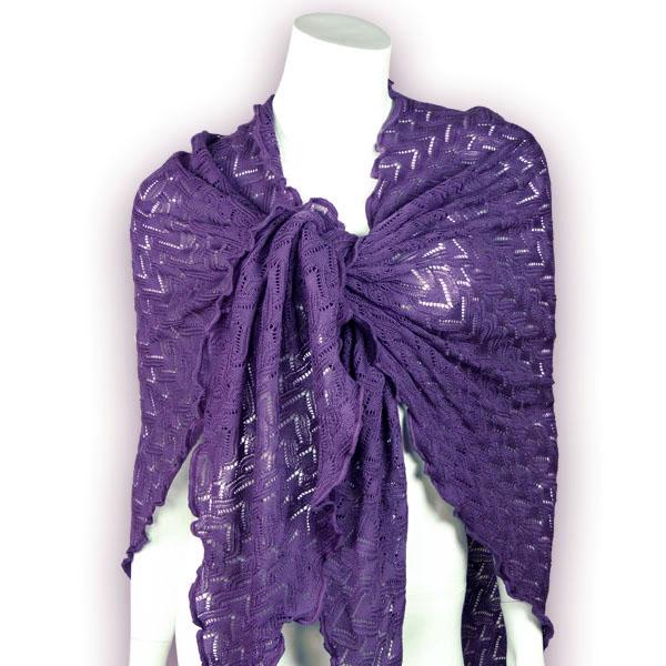 Invero Woll-Dreiecktuch Susi lila