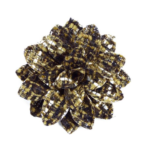 Tweed-Ansteckblüte Heinz Müller braun gemustert