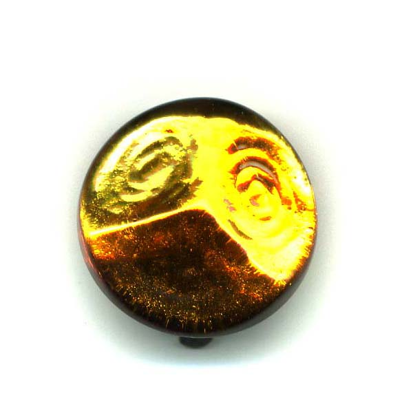 Langani Ohrclipse in cognacfarben aus Glas