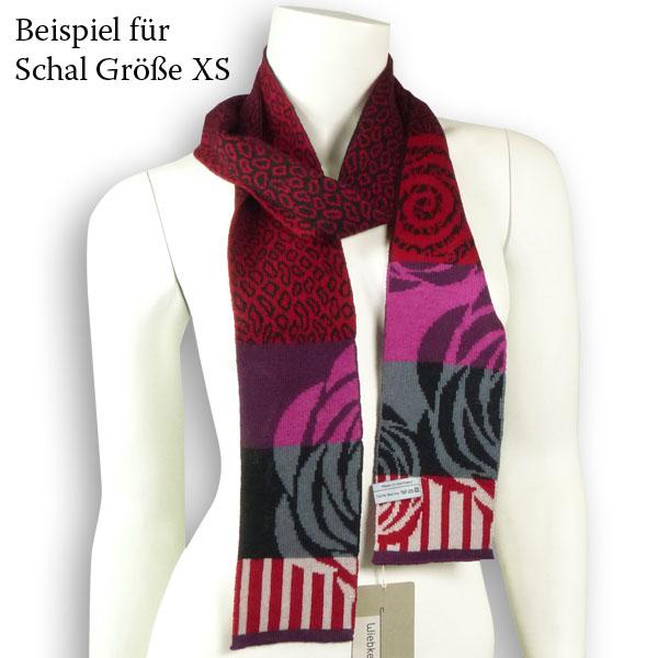 Wiebke Möller Schalband Wild Roses XS kirsche-schwarz