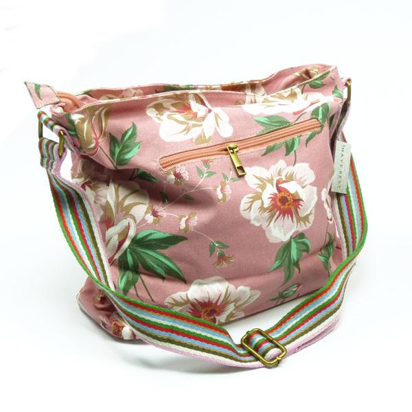 Schulter-Tasche von Huiskamergeluk aus Canvas in Wild Rose dusty-pink