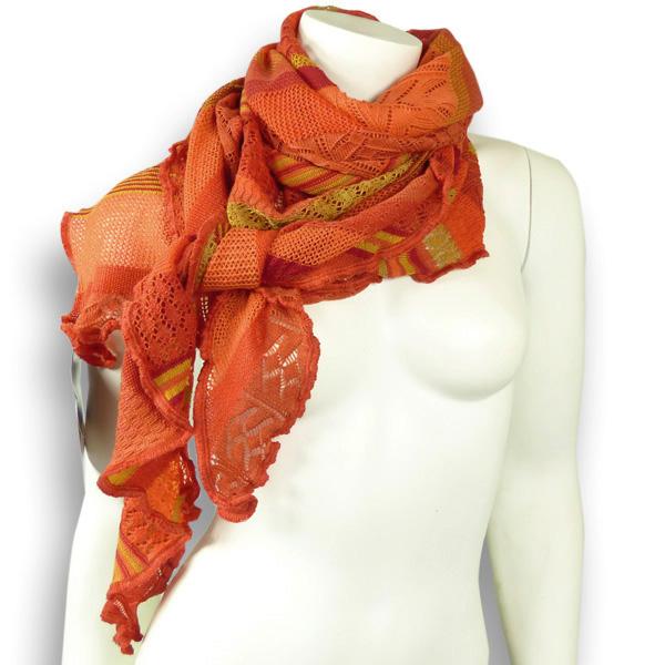 Invero Dreiecktuch Merinowolle Kyra orange