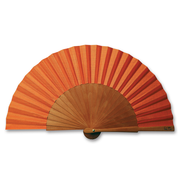 Fächer Mini-Ecololo orange von Véra Pilo