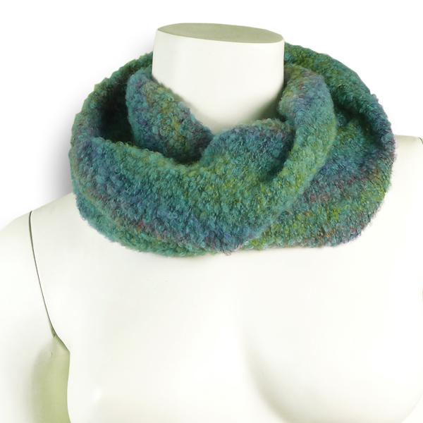 Bouclé Wollseiden-Loop Grün-Mix von Rother Textildesign