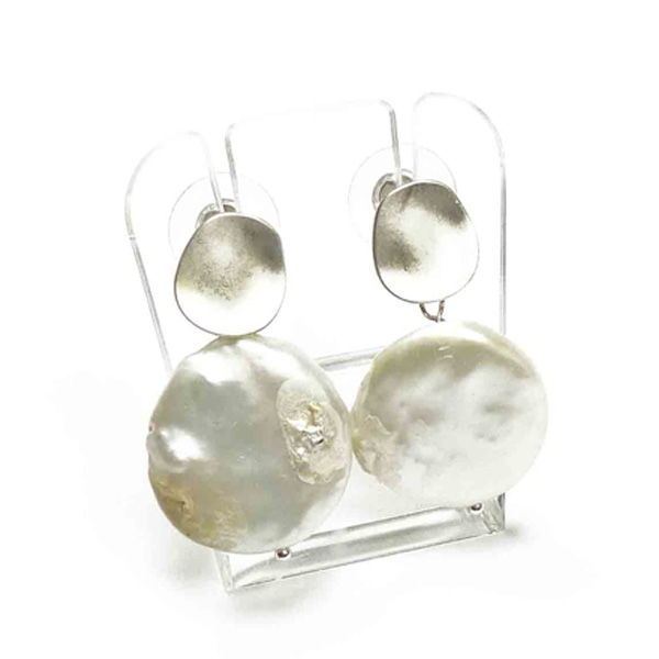 Perlen-Ohrstecker Stephisimo Freshwater Pearls mit silber