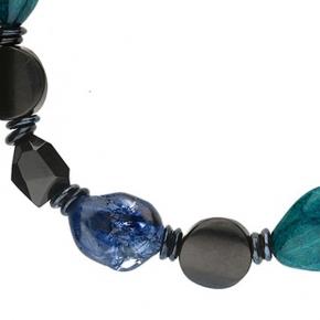Langani Halskette Marusa schwarz-grün