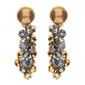 Langani Ohrhänger-Clips mit Glasperlen Art. Nr. L108363