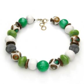 Langani Halskette - verschiedenes Grün  - Art. 1070831910