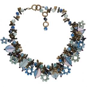 Langani Halskette Cinderella mit Glasblättern
