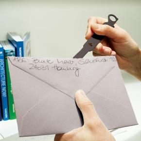 CEDON Brieföffner Motiv Taschen-Messer schwarz