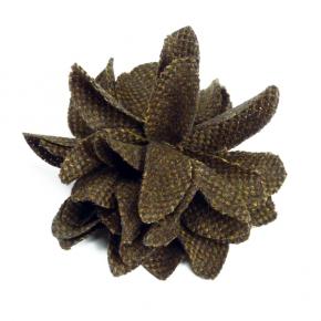 Tweed-Blüte braun von Heinz Müller